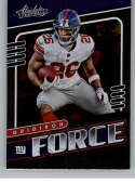 2019 Absolute Gridiron Force Football #14 Saquon Barkley New York Giants Official NFL Trading Card From Panini America