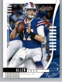 2019 Absolute Football #7 Josh Allen Buffalo Bills Official NFL Trading Card From Panini America