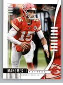 2019 Absolute Football #38 Patrick Mahomes II Kansas City Chiefs Official NFL Trading Card From Panini America