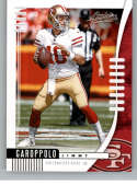 2019 Absolute Football #94 Jimmy Garoppolo San Francisco 49ers Official NFL Trading Card From Panini America