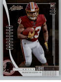 2019 Absolute Football #105 Bryce Love RC Rookie Card Washington Redskins Official NFL Trading Card From Panini America