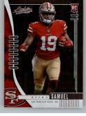 2019 Absolute Football #111 Deebo Samuel RC Rookie Card San Francisco 49ers Official NFL Trading Card From Panini Americ