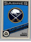 2019-20 O-Pee-Chee Retro Hockey #554 Buffalo Sabres Buffalo Sabres TC Team Checklist Official NHL Trading Card From Uppe