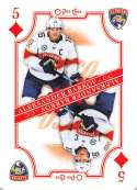 2019-20 O-Pee-Chee Playing Cards Hockey #5-DIAMONDS Aleksander Barkov Florida Panthers Official NHL Trading Card From OP