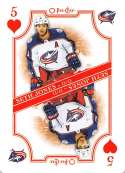 2019-20 O-Pee-Chee Playing Cards Hockey #5-HEARTS Seth Jones Columbus Blue Jackets Official NHL Trading Card From OPC Up
