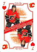 2019-20 O-Pee-Chee Playing Cards Hockey #7-HEARTS Sean Monahan Calgary Flames Official NHL Trading Card From OPC Upper D