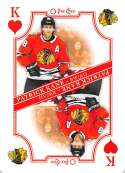 2019-20 O-Pee-Chee Playing Cards Hockey #K-HEARTS Patrick Kane Chicago Blackhawks Official NHL Trading Card From OPC Upp