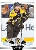 2019-20 O-Pee-Chee Hockey #28 David Krejci Boston Bruins Official OPC NHL Trading Card From Upper Deck