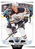 2019-20 O-Pee-Chee Hockey #424 Kyle Brodziak Edmonton Oilers Official OPC NHL Trading Card From Upper Deck
