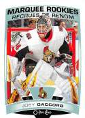 2019-20 O-Pee-Chee Hockey #515 Joey Daccord RC Rookie Card Ottawa Senators Official OPC NHL Trading Card From Upper Deck
