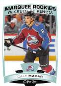 2019-20 O-Pee-Chee Hockey #528 Cale Makar RC Rookie Card Colorado Avalanche Official OPC NHL Trading Card From Upper Dec