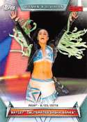 2019 Topps Women's Division Wrestling #76 Bayley Obliterates Sasha Banks Official World Wrestling Entertainment Trading