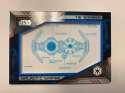 2019 Topps Star Wars Skywalker Saga Commemorative Blueprints Relics Blue NonSport Trading Card #NNO TIE bomber SER/50 Of