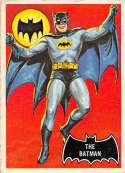 1966 Topps Batman Black Bat NonSport #1 The Batman Set Break #1 Vintage Non Sport Trading Card.  The card you see is the