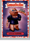 2019 Topps Garbage Pail Kids Revenge of Oh, The Horror-ible Blood Splatter Red Modern Horror Stickers NonSport #2A WITCH