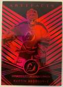 2019-20 Artifacts Aurum Red Hockey #A-42 Martin Brodeur New Jersey Devils Official NHL Trading Card From Upper Deck