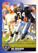 1991 Score Football #100 Bo Jackson Los Angeles Raiders Official NFL Trading Card