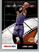 2019-20 NBA Hoops Lights Camera Action Basketball #20 LeBron James Los Angeles Lakers Official NBA Trading Card From Pan