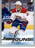 2019-20 Upper Deck Series One Hockey #209 Cale Fleury YG Young Guns RC Rookie Card Montreal Canadiens Official NHL Tradi