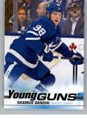 2019-20 Upper Deck Series One Hockey #222 Rasmus Sandin YG Young Guns RC Rookie Card Toronto Maple Leafs Official NHL Tr