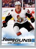 2019-20 Upper Deck Series One Hockey #227 Vitaly Abramov YG Young Guns RC Rookie Card Ottawa Senators Official NHL Tradi