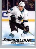 2019-20 Upper Deck Series One Hockey #230 Mario Ferraro YG Young Guns RC Rookie Card San Jose Sharks Official NHL Tradin
