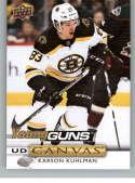 2019-20 Upper Deck Series One UD Canvas Hockey #C107 Karson Kuhlman Boston Bruins Young Guns YG Official NHL Hockey Card