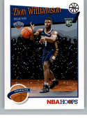 2019-20 Panini Hoops Winter Purple Basketball #296 Zion Williamson New Orleans Pelicans Official Winter/Christmas/Holida