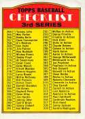 1972 Topps Set Break Two Baseball #251b Small Print Checklist 264-394 Official MLB Trading Card Please see Photo for Con
