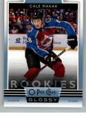 2019-20 Upper Deck OPC Glossy Rookies Hockey #R-1 Cale Makar Colorado Avalanche Official NHL Trading Card From UD