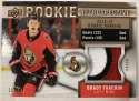 2019-20 Upper Deck Series One Rookie Retrospective Patches Hockey #RR-BT Brady Tkachuk Jersey/Relic SER/18 Ottawa Senato