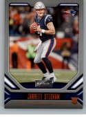 2019 Playbook Orange Football #107 Jarrett Stidham New England Patriots Official NFL Trading Card From Panini America