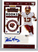 2019 Panini Contenders NFL Rookie Ticket Football #161 Kelvin Harmon Washington Redskins Rookie Card RC Official NFL Tra