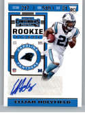2019 Panini Contenders NFL Rookie Ticket Football #164 Elijah Holyfield Carolina Panthers Rookie Card RC Official NFL Tr