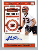 2019 Panini Contenders NFL Rookie Ticket Football #206 Jonah Williams Cincinnati Bengals Rookie Card RC Official NFL Tra