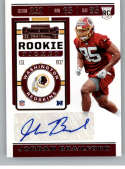 2019 Panini Contenders NFL Rookie Ticket Football #233 Jordan Brailford Washington Redskins Rookie Card RC Official NFL