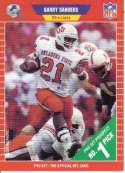 1989 Pro Set Football #494 Barry Sanders RC Rookie Card Detroit Lions The Official Card of the NFL
