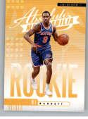 2019-20 Absolute Rookies Yellow Basketball #3 RJ Barrett New York Knicks Official NBA Trading Card From Panini America