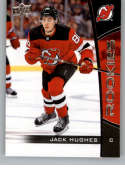 2019-20 Upper Deck NHL Rookie Box Set Hockey #1 Jack Hughes New Jersey Devils Official NHL Rookie Card From Upper Deck