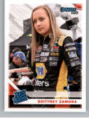 2020 Donruss Racing #22 Brittney Zamora K&N Pro Series West Official NASCAR Trading Card From Panini America