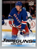 2019-20 Upper Deck Hockey #499 Kaapo Kakko RC Rookie Card New York Rangers Young Guns Official Series Two Trading Card F