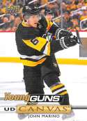2019-20 Upper Deck UD Canvas Hockey #C234 John Marino Pittsburgh Penguins Young Guns Rookie Official Series Two Trading