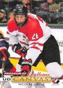 2019-20 Upper Deck UD Canvas Hockey #C259 Nicolas Hague Team Canada Program of Excellence Official Series Two Trading Ca