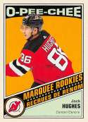 2019-20 O-Pee-Chee Retro Hockey Update #611 Jack Hughes New Jersey Devils Official NHL Trading Card From Upper Deck Seri