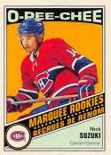 2019-20 O-Pee-Chee Retro Hockey Update #647 Nick Suzuki Montreal Canadiens Official NHL Trading Card From Upper Deck Ser