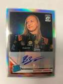2020 Donruss Optic Signatures Holo Racing #17 Brittney Zamora Auto Autograph SER/99 K&N Pro Series West Official Trading