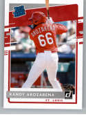 2020 Donruss Baseball #51 Randy Arozarena RC Rookie Card St. Louis Cardinals Official MLBPA Trading Card From Panini Ame
