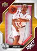 2009-10 Upper Deck Draft Edition Basketball #40 James Harden Arizona State Sun Devils Official NCAA Rookie Card From The