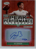 2020 SAGE HIT Premier Draft Peak Performance Autographs Red Football #PKA-JB Joe Burrow Auto Autograph SER/50 LSU Tigers LSU Tigers