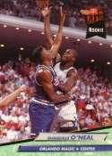 1992-93 Ultra Basketball #328 Shaquille O'Neal RC Rookie Card Orlando Magic Orlando Magic Official NBA Trading Card From